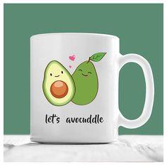 Avocado Mug, Let's Avocuddle, Let's Cuddle Mug, Valentine Mug, Valentine Coffee Mugs, Valentines Day Gifts For Her, Vegan Mug, Vegan Gifts