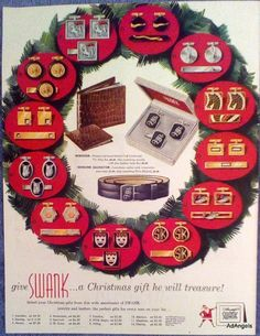 1954 Swank Jewelry Leather Cuff Links Tie Klip Alligator Belt  Christmas ad | Collectibles, Advertising, Jewelry & Watches | eBay!