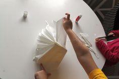 Papírové vánoční hvězdy z pytlíků - Testováno na dětech