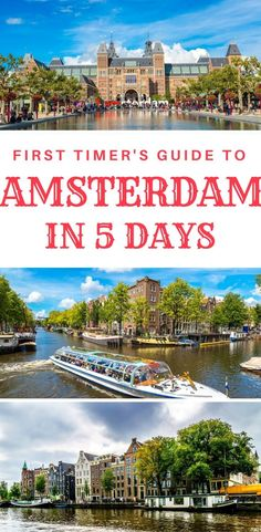 First time in Amsterdam? Things to do in Amsterdam in 5 days. What to do in Amsterdam in 5 days as a first time visitor. A complete 5 day itinerary. Amsterdam Things To Do In, Visit Amsterdam, Amsterdam City, Amsterdam Travel, Amsterdam Netherlands, Backpacking Europe, Europe Travel Guide, Travel Destinations, Travel List