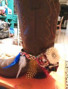 Feathers n flowers boot bracelets .2 funky chix
