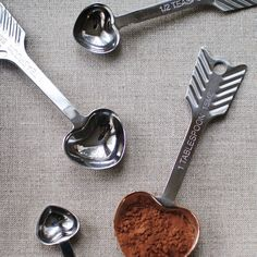 heart measuring spoons by Mignon Kitchen Co.