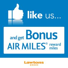 LIKE us on #Facebook and receive BONUS Air Miles!