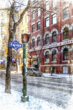 Photo Taken in Winnipeg's Exchange District in Winter by CarlaDyck