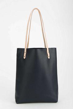 Cold Picnic Colorblock Leather Tote Bag