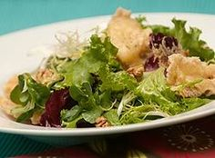 Salad of Mixed Greens with Brie Croutons and Walnut Vinaigrette. Green Salad Dressing, London Free, Opinion Piece, Columnist, Vinaigrette, Cabbage, Salads, Chicken, Vegetables