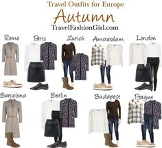 #Travel #Outfits for Backpacking Europe in AUTUMN via TravelFashionGirl... #fashion #packing