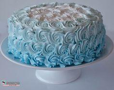 bolo degrade azul frozen - Pesquisa Google