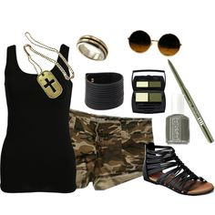 Outfit for Brad Paisleys camouflage tour concert!! Minus the dog tags