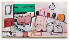 Hauser & Wirth debuts its new space with Philip Guston's caricatures of Richard Nixon.