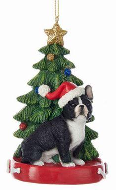 santa french bulldog ceramic christmas ornament french bulldog christmas ornaments pinterest french bulldogs ornament and dog