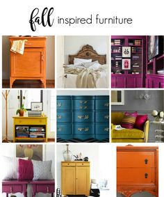 Fall Inspired Furniture Makeovers