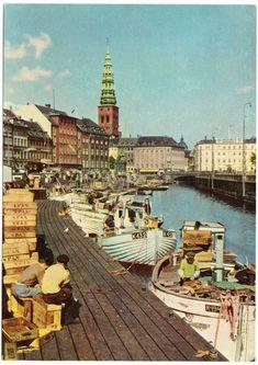 (background) Nikolaj Church in Copenhagen, Denmark