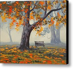 Park Bench Canvas Print by Graham Gercken. Starting at $47.00
