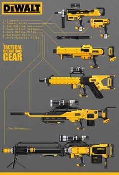 DeWalt Guns, Tom McDowell on ArtStation at https://www.artstation.com/artwork/dewalt-guns