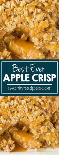 - Best Ever Caramel Apple Crisp! Fresh apples baked in the BEST apple crisp toppin… Best Ever Caramel Apple Crisp! Fresh apples baked in the BEST apple crisp topping! The best baked apple dessert this fall and for Thanksgiving. Apple Crisp Without Oats, Apple Crisp Topping, Apple Crisp Pie, Vegan Apple Crisp, Caramel Apple Crisp, Apple Crisp Easy, Caramel Apples, Streusel Topping, Carmel Apple Crisp Recipe