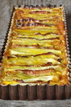 Leek, bacon and county tart - straightforward recipe straightforward leek pie Quiches, Tapas, Savory Tart, Lard, Partys, Love Food, Delish, Food Porn, Food And Drink