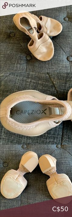 "CAPEZIO PEDINI FEMME JAZZ SHOE Worn only twice. Like-new. Size 6  Features:  Light, strong, breathable Neoflex & durable leather upper Patented two-piece split-sole design with minimalist instep provides notable arch exposure Contoured suede forefoot patch is cushioned and provides traction Insole lined with moisture absorbing, odor-deterring, antimicrobial DRYZ 3/4"" PVC injected, lightweight, non-marking & shock absorbing heel Capezio Shoes Athletic Shoes Jazz Shoes, Athletic Shoes, Leather, Things To Sell, Shoes Sport, Workout Shoes"