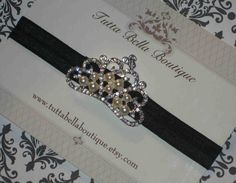 Baby Headband Pearl & Rhinestone Crown by TuttaBellaBoutique