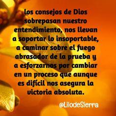 #Dios conoce lo que necesitamos, confía en El @LilodeSierra Christian Messages, Tips, Dios
