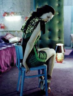 """Private Dancer"" Guinevere Van Seenus photographed by Javier Vallhonrat for Vogue UK 2010"