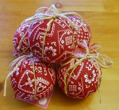 Western Bandana Christmas Ornaments CLEARANCE by ElCoyoteRanch, $5.00