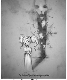 A hauntingly beautiful depiction of mental health by artist shawn . Creepy Drawings, Dark Drawings, Creepy Art, Cool Drawings, Arte Horror, Horror Art, Depression Art, Mental Health Art, Art Tumblr