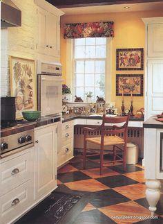 Love the floor.  Aerosmith Kitchen  Betsy Speert ..Designer