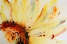 Sunflower    watercolour - cm 35 x 50