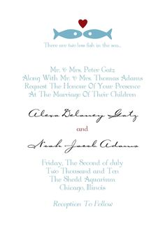 These Are Two Less Fish In The Sea Love It Photo Invitationsnautical Invitationswedding