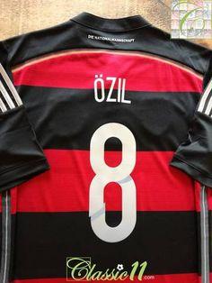 74b08bb7039 2014 15 Germany Away World Champions Football Shirt Ozil  8 (M)