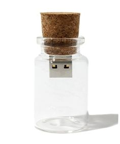 USB message in a bottle. Cute Christmas Greeting idea for a computer techie.