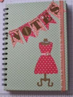 Classy Crafters: How to cover a spiral bound notebook.
