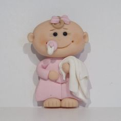 Little babe with blankie & dummy