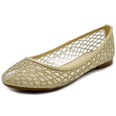 Ollio Women's Shoe Breathable Mesh Glitter Comfort Slip-on Ballet Flat 2 Styles . Tolu, Slippers For Girls, Amazon Associates, Trendy Shoes, Wedge Shoes, Ballet Flats, Slip On, Wedges, Beautiful