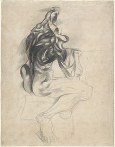 Untitled (Ecorché)  Arshile Gorky (American, born Armenia. 1904–1948)    (c. 1932). Pencil on paper