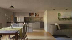 Flat Dining Room by on DeviantArt Dining Room, Architecture, Artwork, Table, Flat, Furniture, Scenery, Deviantart, Home Decor