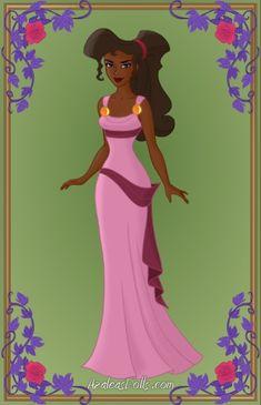 "Disney Princesses As Women Of Color Princess Meg From ""Hercules"" (Photo from AzaleasDolls) Black Girl Art, Black Women Art, Black Girl Magic, Black Girls, Art Girl, Black Disney Princess, Princess Tiana, Hipster Princess, Princess Jasmine"