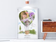 Other – Air balloon, birthday poster, print, photo collage – a unique product by NanettoDesign on DaWanda