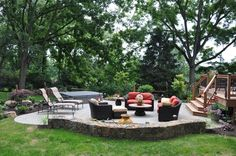 this is similar to how our deck will adjoin our patio... good size here.