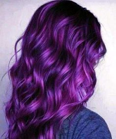 Do you want dark purple hair color? We have pictures of Amazing Dark Purple Hair Color Ideas that will inspire the purple diva in you! Dark Purple Hair Color, Pastel Purple Hair, Plum Hair, Gorgeous Hair Color, Cool Hair Color, Light Purple, Violet Hair Colors, Dark Violet Hair, Hair Colour