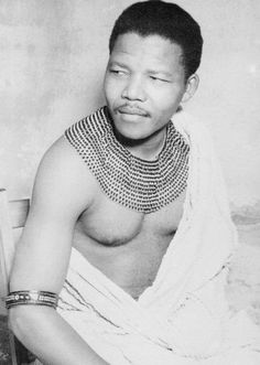 Nelson Mandela wearing a beaded collar. by ViewAfrica.com, via Flickr