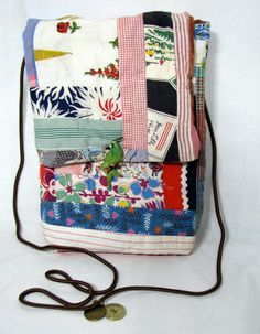 Shoulder Bag Small crossbody bag Upcycled by ReinventedThreads