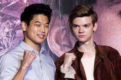 Ki Hong Lee and Thomas Sangster