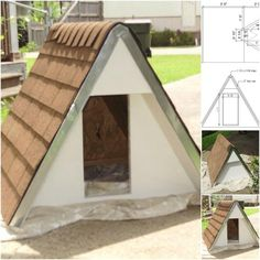 Amazing A-Frame - 15 Brilliant DIY Dog Houses With Free Plans For Your Furry Companion