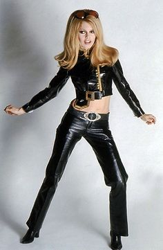 Brigitte Bardot photographed by Ghislain Dussart, 1968. cool in black leather