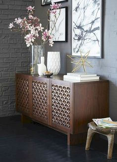 Dining Room Console Contemporary Photo Of Modern Buffet Sideboard Cabinets. Home and Family Sideboard Dekor, Credenza Decor, Sideboard Buffet, Dark Wood Sideboard, Sideboard Cabinet, Dining Room Console, West Elm Dining Table, Mid Century Modern Sideboard, Bedroom Sets