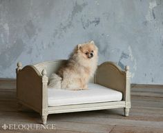 Eloquence, Inc. Theodore Dog Bed in Swedish Grey www.eloquenceinc.com