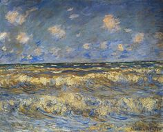 Rough Sea, 1881, Claude Monet