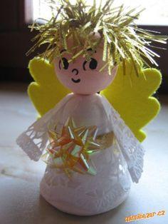ANDĚLÉ inspirace všeho druhu Homemade Christmas, Christmas Crafts, Christmas Ornaments, Ava, Baby Shower, Holiday Decor, Winter Craft, Home Decor, Xmas